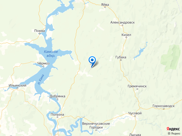 урочище Усть-Пожва на карте