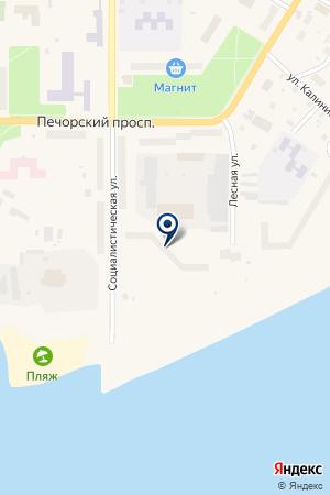 ДЕТСКИЙ САД ИСКОРКА на карте Печоры