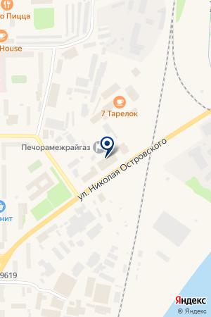 АВТОМАГАЗИН ЕВРО АВТО на карте Печоры