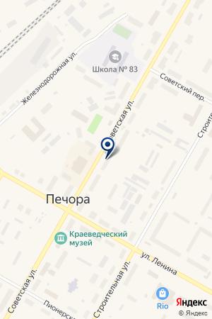 АПТЕКА ЖЕЛДОРФАРМАЦЕЯ на карте Печоры