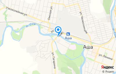 Местоположение на карте пункта техосмотра по адресу Челябинская обл, г Аша, ул Гагарина, д 1 к г