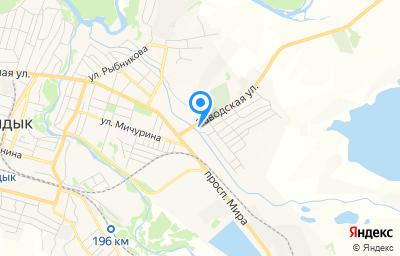 Местоположение на карте пункта техосмотра по адресу Оренбургская обл, г Кувандык, ул Заводская, зд 2А