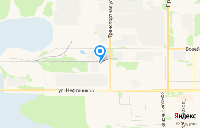 Местоположение на карте пункта техосмотра по адресу Респ Коми, г Усинск, ул Транспортная, д 12