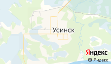 Отели города Усинск на карте