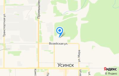 Местоположение на карте пункта техосмотра по адресу Респ Коми, г Усинск, ул Возейская, д 18