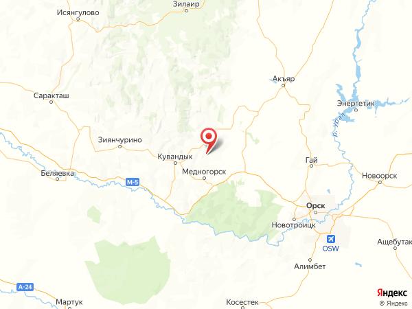 садовое товарищество Уралец на карте