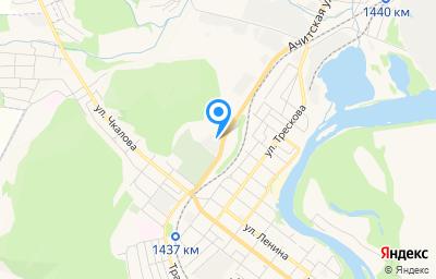 Местоположение на карте пункта техосмотра по адресу Свердловская обл, г Красноуфимск, ул Транспортная, д 1