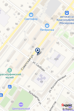 ЦТО ДИАНА на карте Красноуфимска