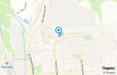 Местоположение на карте пункта техосмотра по адресу Пермский край, г Лысьва, ул Орджоникидзе, д 14