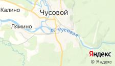 Отели города Чусовой на карте