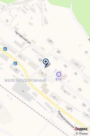 ДОПОЛНИТЕЛЬНЫЙ ОФИС ПЕРМСКИЙ ФИЛИАЛ ТРАНСКРЕДИТБАНК на карте Чусового