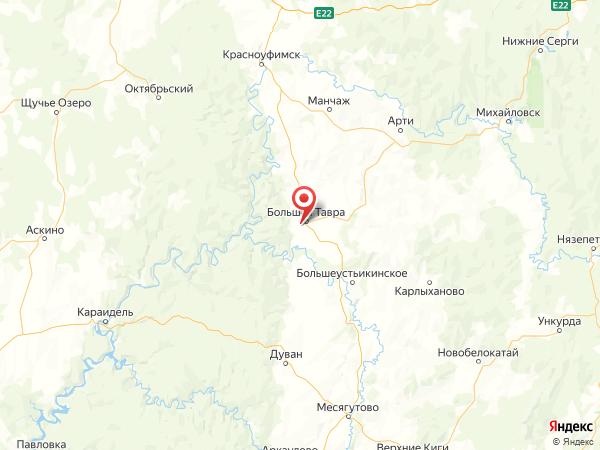 село Русская Тавра на карте