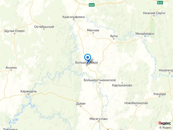 деревня Большая Тавра на карте