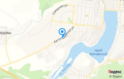 Местоположение на карте пункта техосмотра по адресу Челябинская обл, г Усть-Катав, ул Автодорожная, д 32