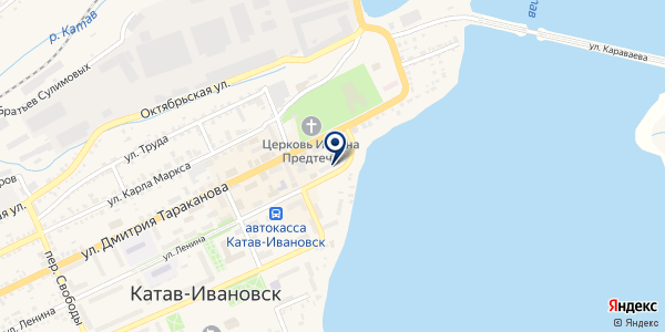СТАНЦИЯ СКОРАЯ МЕДИЦИНСКАЯ ПОМОЩЬ на карте Катав-Ивановске