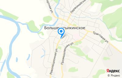 Местоположение на карте пункта техосмотра по адресу Респ Башкортостан, с Большеустьикинское, ул Ленина, д 10