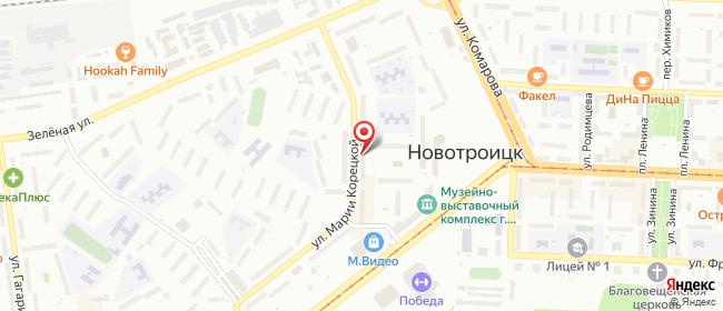 Карта расположения пункта доставки Новотроицк Марии Корецкой в городе Новотроицк