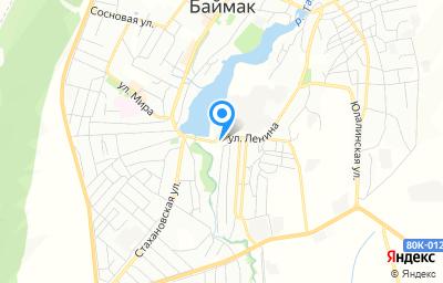 Местоположение на карте пункта техосмотра по адресу Респ Башкортостан, г Баймак, ул Ленина, д 77А