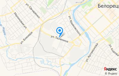 Местоположение на карте пункта техосмотра по адресу Респ Башкортостан, г Белорецк, ул Тюленина, д 23