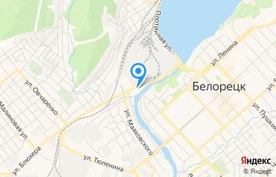 Местоположение на карте пункта техосмотра по адресу Респ Башкортостан, г Белорецк, ул Блюхера, д 8