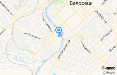 Местоположение на карте пункта техосмотра по адресу Респ Башкортостан, г Белорецк, ул Маяковского, д 84