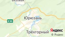 Гостиницы города Юрюзань на карте