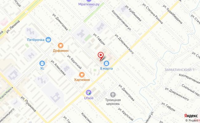 Карта расположения пункта доставки Билайн в городе Белорецк