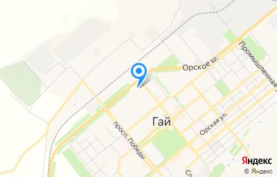 Местоположение на карте пункта техосмотра по адресу Оренбургская обл, г Гай, ш Орское, д 6А