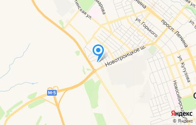 Местоположение на карте пункта техосмотра по адресу Оренбургская обл, г Орск, ул Новотроицкое шоссе, д 62