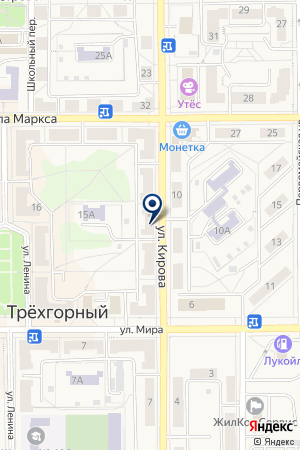 ДЕТСКИЙ САД N 9 МАЛЫШКА на карте Трехгорного
