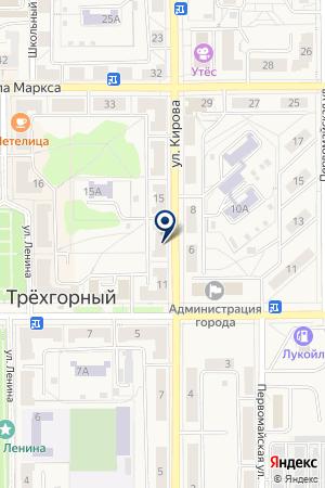 МАГАЗИН БЕЗДЕЛЬНИК на карте Трехгорного