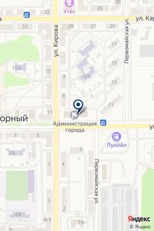 МАГАЗИН АВТО-RU (АВТО-РУ) на карте Трехгорного