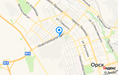 Местоположение на карте пункта техосмотра по адресу Оренбургская обл, г Орск, ул Новотроицкое шоссе, д 5
