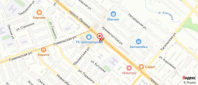 Карта расположения пункта доставки Халва в городе Орск