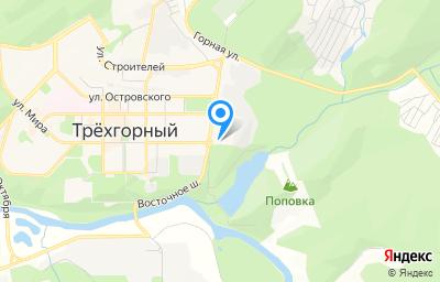 Местоположение на карте пункта техосмотра по адресу Челябинская обл, г Трехгорный, ш Восточное, д 2
