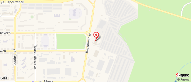 Карта расположения пункта доставки Трехгорный Восточное в городе Трехгорный