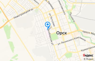 Местоположение на карте пункта техосмотра по адресу Оренбургская обл, г Орск