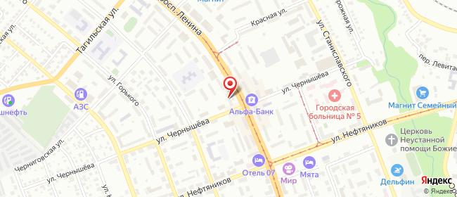 Карта расположения пункта доставки Орск Ленина в городе Орск