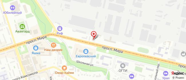 Карта расположения пункта доставки Орск Мира в городе Орск