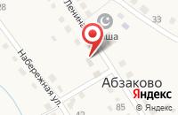 Схема проезда до компании Абзаковский сельсовет в Абзаково
