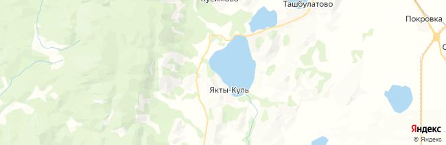 Якты-Куль (озеро Банное) на карте