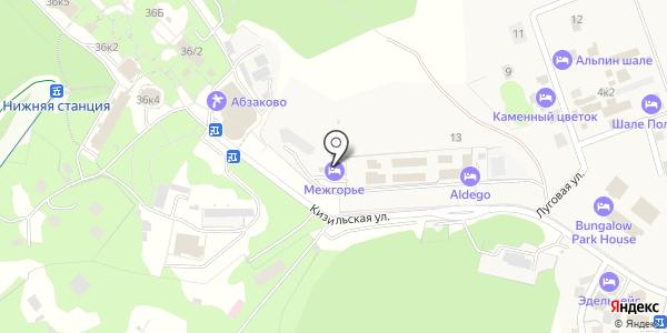 Межгорье. Схема проезда в Новоабзаково