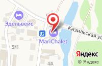 Схема проезда до компании Mari Chalet в Новоабзаково