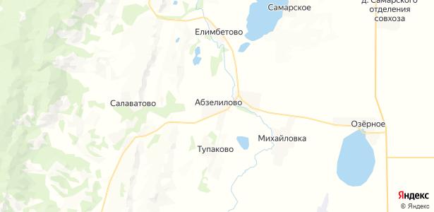Абзелилово на карте