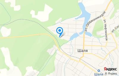 Местоположение на карте пункта техосмотра по адресу Свердловская обл, пгт Шаля, ул Луговая, зд 18