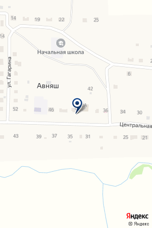 Авняшский сельский клуб на карте Авняша
