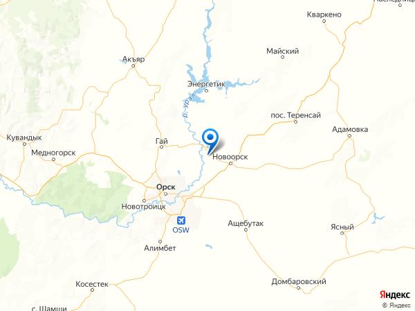 село Красноуральск на карте