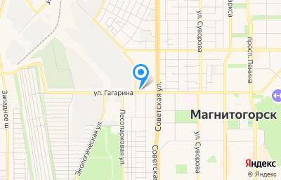 Местоположение на карте пункта техосмотра по адресу Челябинская обл, г Магнитогорск, ул Индустриальная, д 57