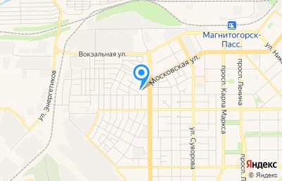 Местоположение на карте пункта техосмотра по адресу Челябинская обл, г Магнитогорск, ул Советская, д 4