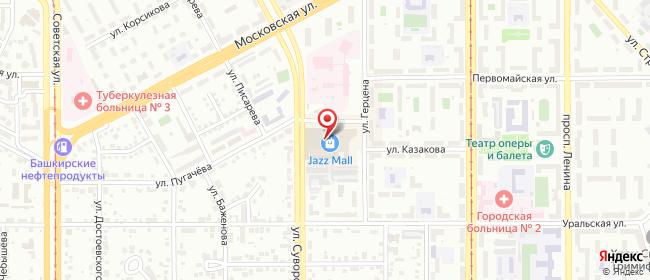 Карта расположения пункта доставки Магнитогорск Герцена в городе Магнитогорск